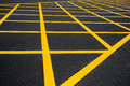 Cross yellow lines Stock Images