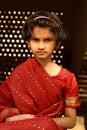 Cross young Indian girl Royalty Free Stock Photos