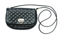Crossbody quilted black bag Royalty Free Stock Photo