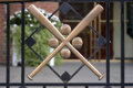 Crossed Baseball Bats Royalty Free Stock Photo