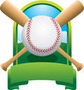 Crossed bat baseball championship Stock Photography