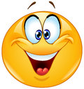 Crossed eyes emoticon happy with squinting Royalty Free Stock Photo