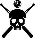 Crossed queque pool skull