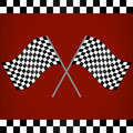 Crossed Racing Checkered Flags Royalty Free Stock Photo