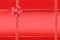 Crossed red ribbon Stock Images