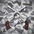 Crossed Revolvers Royalty Free Stock Images