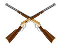 Crossed Rifles Royalty Free Stock Photo