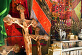Crosses jesus christ crucified them gift shop close to church holy sepulchre Royalty Free Stock Image