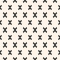 Crosses seamless pattern. Modern funky texture. Royalty Free Stock Photo