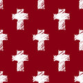 Crosses seamless pattern red