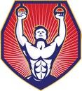 Crossfit Training Athlete Rings Retro Royalty Free Stock Photo