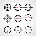 Crosshair (gun sight), target icons Royalty Free Stock Photo