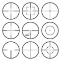 Crosshairs set Stock Photos