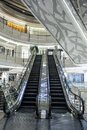 Escalators in a mall Royalty Free Stock Photo