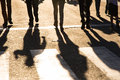 Crossing shadows Royalty Free Stock Photo