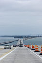 Crossing the skyway bridge approaching st petersburg florida from south Stock Photos