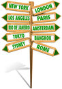 Crossroads Cities Royalty Free Stock Photos