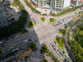 Crossroads of the city zhuhai china may s main road gongbei yingbin road photo taken from above Royalty Free Stock Image