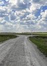 Crossroads rural roads and main