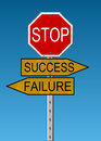 Crossroads: Success Or Failure Stock Image