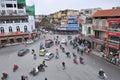 Crossroads and traffic, Hanoi Royalty Free Stock Photo