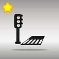 Crosswalk black Icon button logo symbol