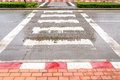 Crosswalk in the city after rain zebra traffic walk Stock Photos