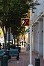 Crosswalk on a downtown street Royalty Free Stock Photos