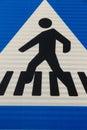 Crosswalk figure traffic signal or Stock Photos
