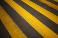 Crosswalk focus is on the middle of the road dof is shallow the forground and far curb are blurred Stock Images