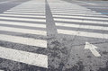 Crosswalk line on the street Stock Images