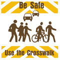Crosswalk safety Stock Image