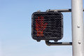 Crosswalk shows signal to stop Stock Photography