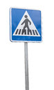 Crosswalk signal isolated on white background Royalty Free Stock Image