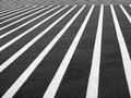 Crosswalk a very large designated black and white striped pedestrian area Royalty Free Stock Images