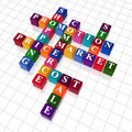Crossword 20 - promotion Royalty Free Stock Image
