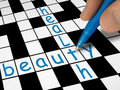 Crossword - beauty and health Stock Image