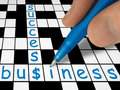 Crossword - business and success Stock Photo