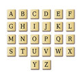 Crossword design alphabet Royalty Free Stock Photography