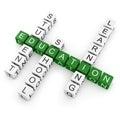 Crossword Education Royalty Free Stock Photo