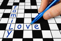 Crossword - family and love Stock Photography