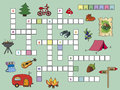 Crossword game for children with illustrations Stock Image
