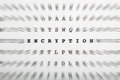 Crossword letters, focus on word encryption Stock Image
