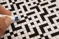 Crossword małżeństwo Obrazy Royalty Free