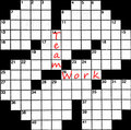 Crossword message Royalty Free Stock Photography