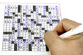 Crossword Puzzle Stock Images
