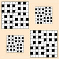 Crossword puzzle grids Royalty Free Stock Photo