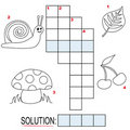 Crossword puzzle for kids, part 1 Royalty Free Stock Photo