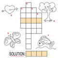 Crossword puzzle for kids, part 2 Royalty Free Stock Photo