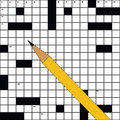 Crossword template Stock Images